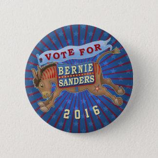 Bernie Sanders President 2016 Democrat Donkey 2 Pinback Button
