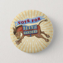 Bernie Sanders President 2016 Democrat Donkey Button