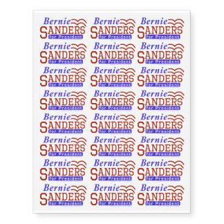 Bernie Sanders President 2016 Election Democrat Temporary Tattoos