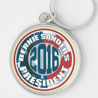 Bernie Sanders President 2016 Silver-Colored Round Keychain