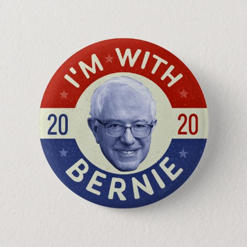 Bernie Sanders President 2020 Democrat Photo Retro Button