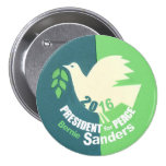 Bernie Sanders President for Peace Pinback Button