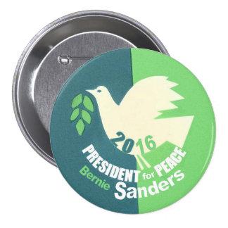 Bernie Sanders President for Peace Pinback Button