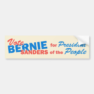 Bernie Sanders President of the People V5 Bumper Sticker