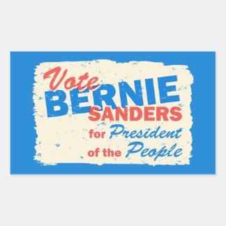 Bernie Sanders President of the People V5 Rectangular Sticker