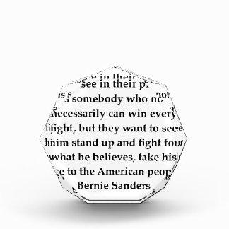 Bernie Sanders quote Acrylic Award