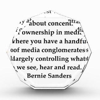 Bernie Sanders quote Award