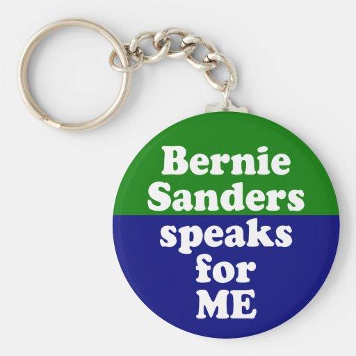 Bernie Sanders Speaks for Me Keychain