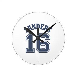 Bernie Sanders Sports Jersey Number 16 Round Wallclock