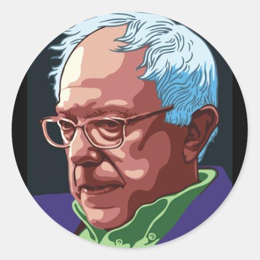 Bernie Sanders Round Stickers