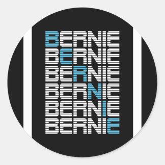 BERNIE sanders textStacks Classic Round Sticker