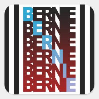 BERNIE sanders textStacks Square Sticker