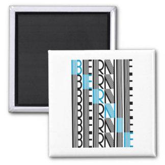 BERNIE sanders textual 2 Inch Square Magnet