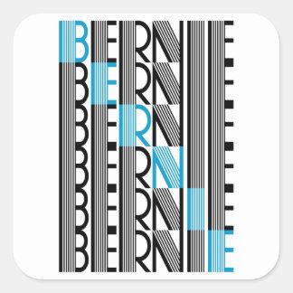 BERNIE sanders textual Square Sticker