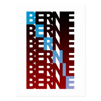 BERNIE sanders textualBern Postcard
