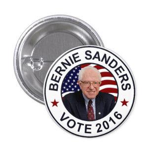 Bernie Sanders US Flag Pinback Button