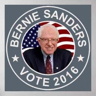 Bernie Sanders US Flag Poster