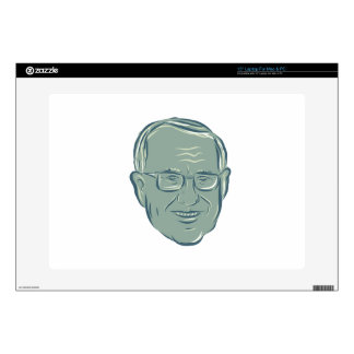 "Bernie Sanders US Senator Drawing 15"" Laptop Skin"