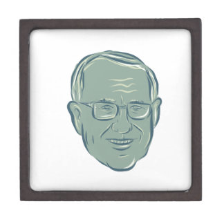Bernie Sanders US Senator Drawing Jewelry Box