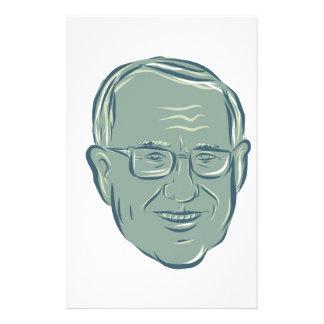 Bernie Sanders US Senator Drawing Stationery