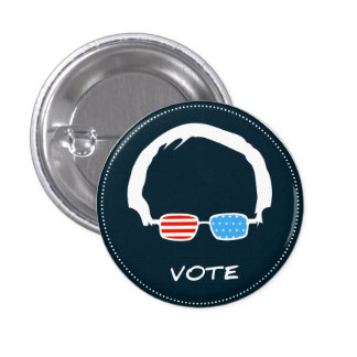 Bernie Sanders - Vote! Pinback Button