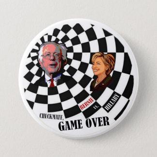 Bernie Sanders vs. Hillary Clinton Button