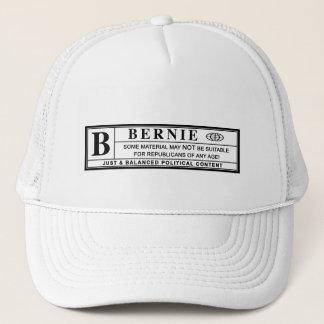 Bernie Sanders Warning Label Trucker Hat
