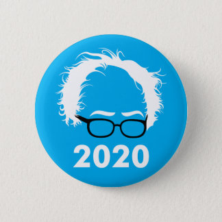 Bernie Sanders Wild Hair 2020 Button