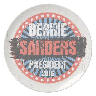 Bernie Smear Campaign Gear Dinner Plate