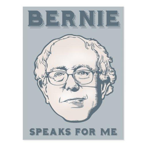 Bernie Speaks for Me Postcards