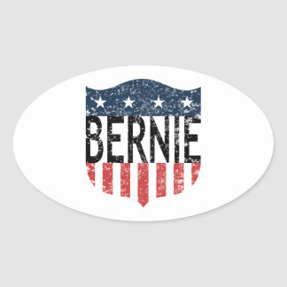 BERNIE stars and stripes Oval Sticker