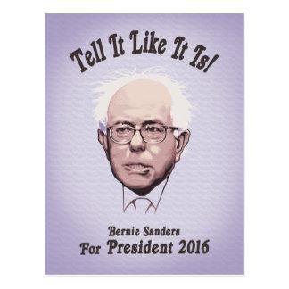 Bernie - Tell It Like It Is Postcard