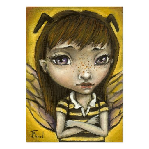 Bernie - the honey bee girl large business card