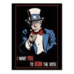 Bernie Wants You Postcard