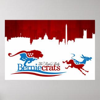Berniecrats - DNC on the run! Poster