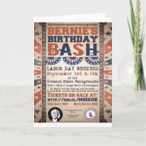 Bernie's 75th Birthday Bash and Labor Day Festival Card
