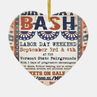 Bernie's 75th Birthday Bash and Labor Day Festival Ceramic Ornament