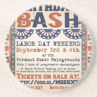 Bernie's 75th Birthday Bash and Labor Day Festival Drink Coaster