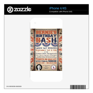 Bernie's 75th Birthday Bash and Labor Day Festival iPhone 4 Skins