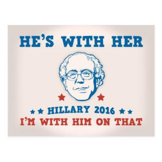 Bernie's With Her Postcard