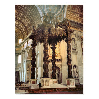 Bernini's canopy over the high altar postcard