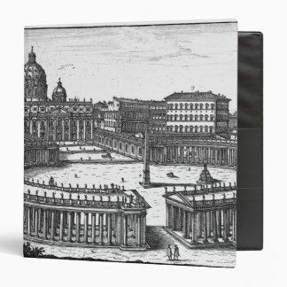 Bernini's original plan for St. Peter's Square 3 Ring Binder