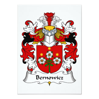 Bernowicz Family Crest Card