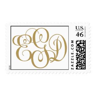 bernstein gibber wedding monogram postage stamp
