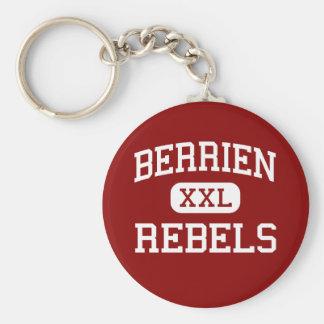 Berrien - Rebels - High School - Nashville Georgia Basic Round Button Keychain