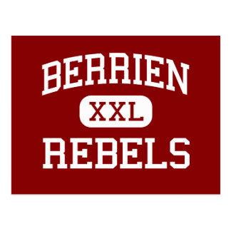 Berrien - Rebels - High School - Nashville Georgia Postcard