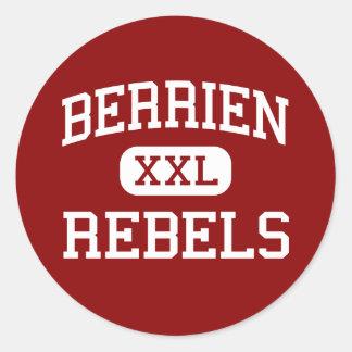 Berrien - Rebels - High School - Nashville Georgia Classic Round Sticker