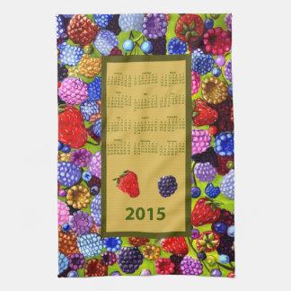 Berries 2015 calendar kitchen tea towel