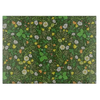 Berries and Chamomile Garden Print Cutting Board