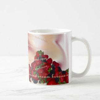 berries and cream classic white coffee mug